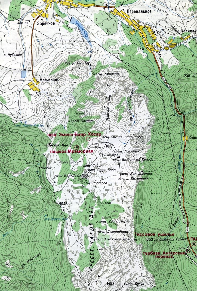 Топографическая карта крым заречное