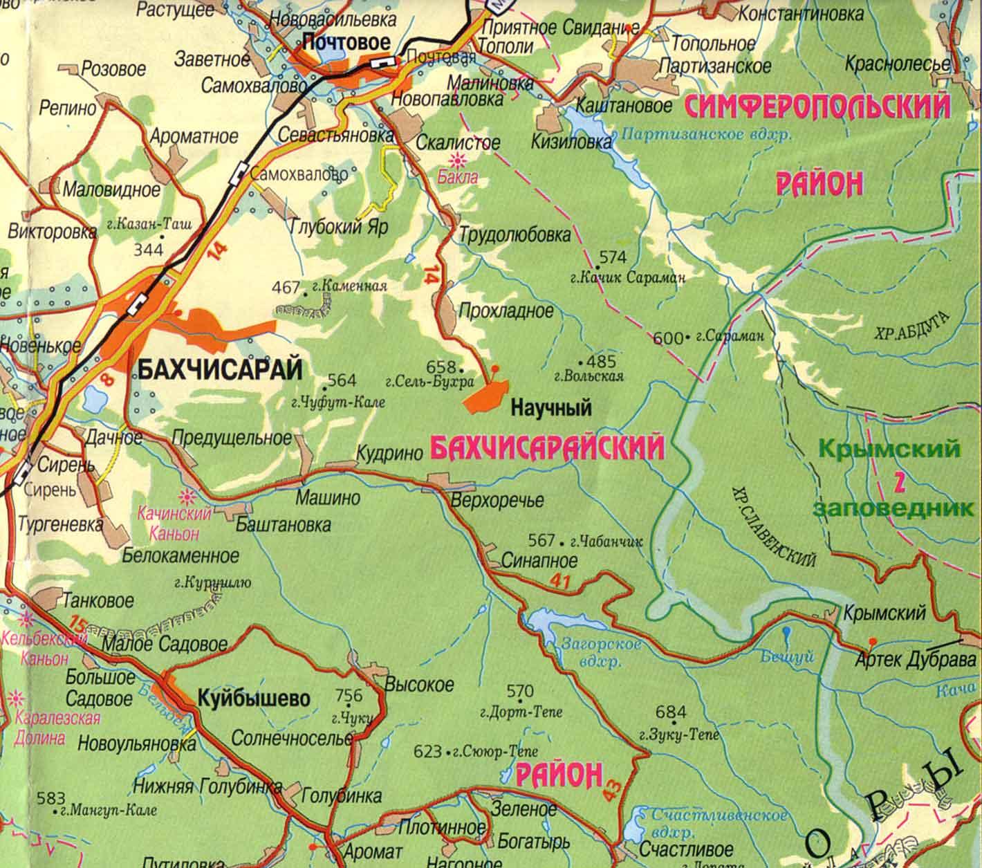 Крыма физическая карта крыма