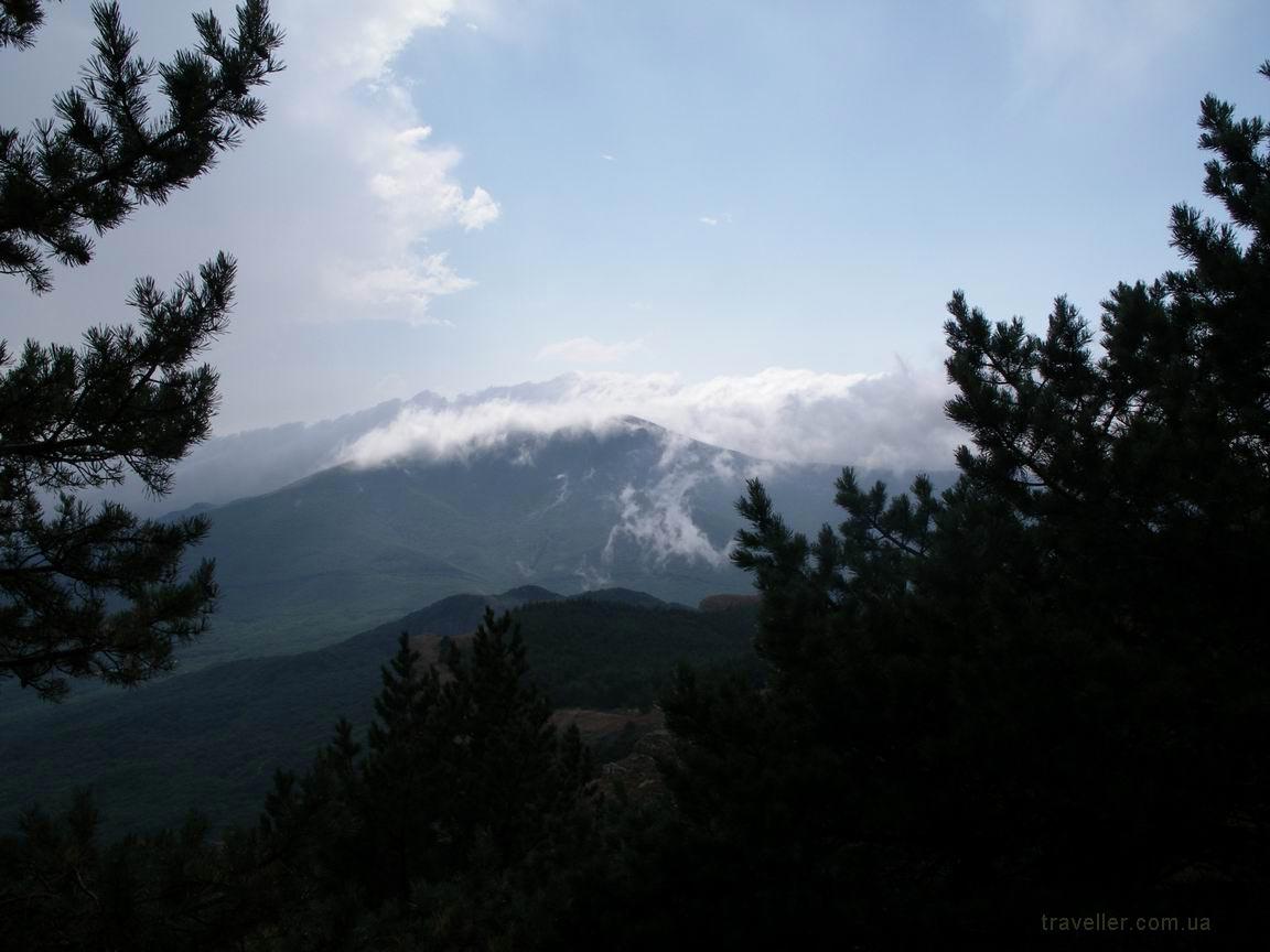 Горный пейзаж вид на гору фото из