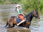 Купание с лошадьми в конном походе по Крыму
